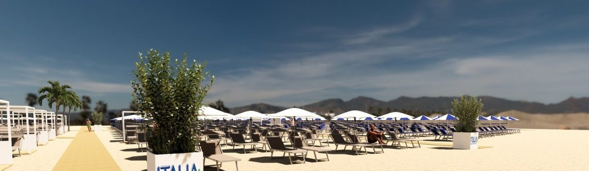 Book your parasol at the new Sector Terme 1